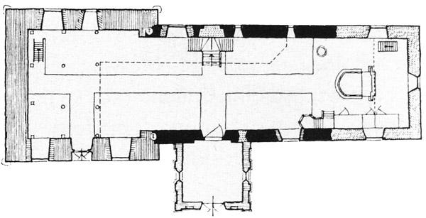 Alter Grundriss der Kirche von Ulsnis