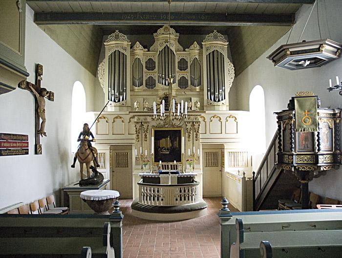 Innenraum Kirche Ulsnis