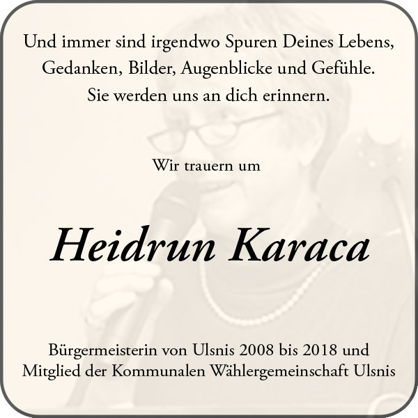 Trauer um Heidrun Karaca