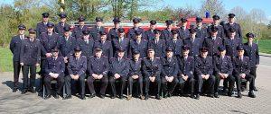 Das Foto zeigt das Team der Freiwilligen Feuerwehr Kius-Ulsnis.