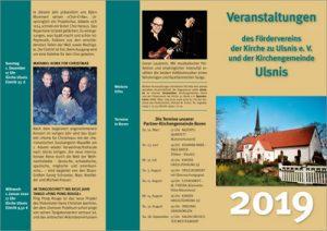 Veranstaltungen des Fördervereins der Kirche zu Ulsnis e.V. und der Kirchengemeinde Ulsnis