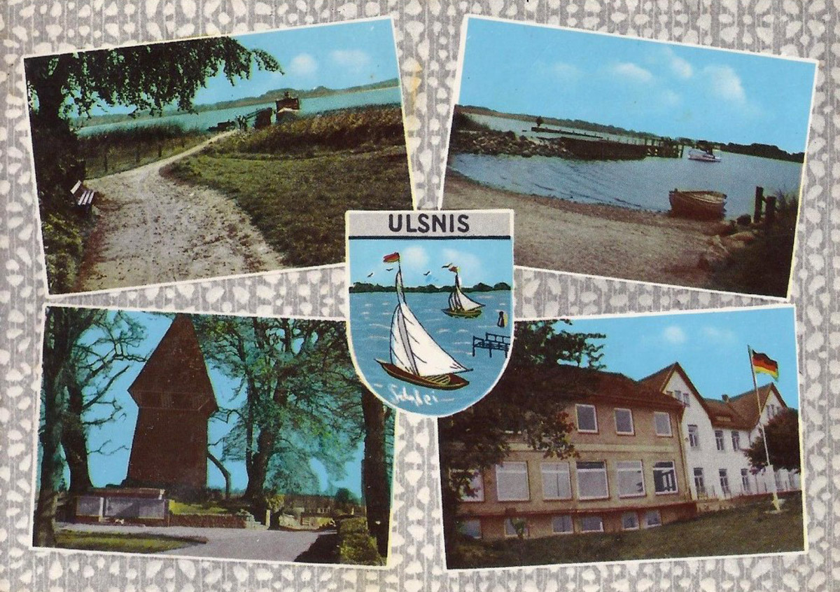 Alte Postkarte von Ulsnis an der Schlei