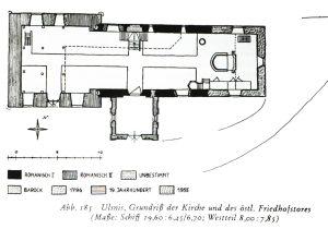 Grundriss der St.-Wilhadi-Kirche in Ulsnis