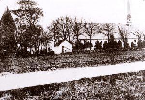 St. Wilhadi-Kirche in Ulsnis um 1900