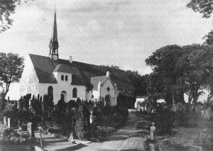 Die St. Wilhadi-Kirche in Ulsnis um 1950. Foto: Remmer.