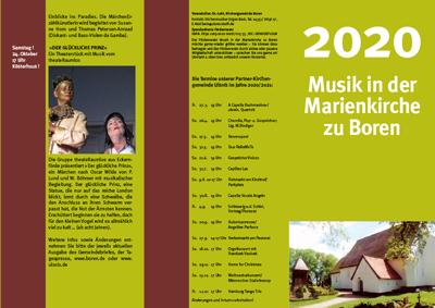 Musik in der Marienkirche Boren im Jahr 2020