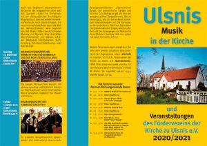 Ulsnis: Musik in der Kirche und Veranstaltungen des Fördervereins der Kirche zu Ulsnis e.V. 2020/2021