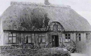 Altes Abnahmehaus der Familie Landtau, 1936 abgebrochen