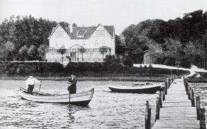 Anlegebrücke am Fährhaus in Ulsnis