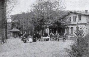 Das Fährhaus Ohl in Ulsnis in einer historischen Ansicht.