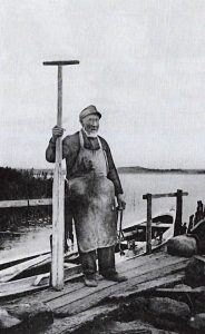 Der Fährmann Peter Harmsen.