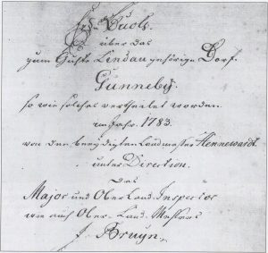 Erdbuch aus dem Jahre 1783