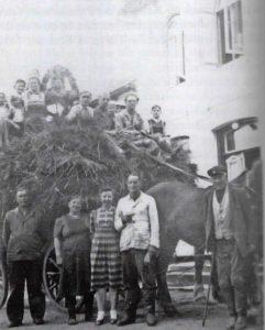 Erntefest auf dem Tönnsenhof 1950.