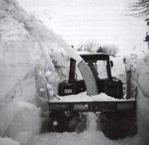 1979: Schneefräse in Gunneby