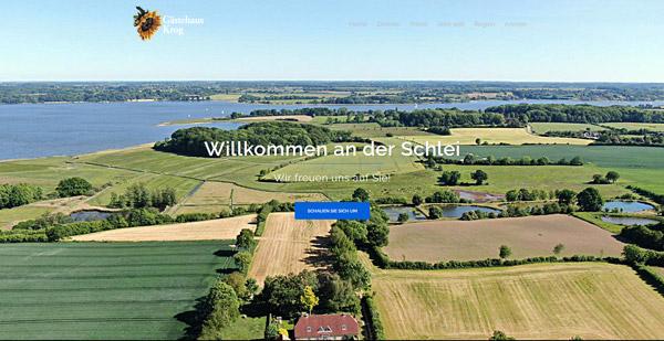 Beispielswebsite Gästehaus Krog