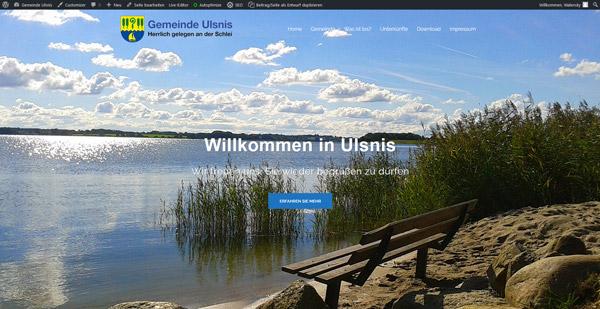 Beispielswebsite Gemeinde Ulsnis